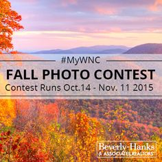 Fall in Western North Carolina is like no place on earth. Share your best fall photos with us for a chance to win BIG local prizes. #MyWNC #Asheville #Photography #WNC #fall