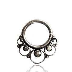 Septum Nose ring septum body jewelry-Silver nose ring