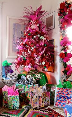 flamingo-Christmas-tree,-Aunt-Peaches. I MUST MAKE THIS!!!!!
