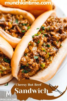 Cheesy Hot Beef Sandwich Recipe – stuffed cheesy bread with ground beef and cream of mushroom sauce. It's CROWD's favorite Hot Beef Sandwich Recipe. Pot Roast Recipes, Ground Beef Recipes, Meat Recipes, Cooking Recipes, Healthy Recipes, Meatloaf Recipes, Sauce Recipes, Hot Beef Sandwiches, Wrap Sandwiches