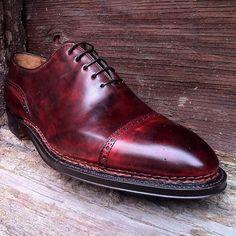 Bontoni 'Del Corso' in a Norvegese Construction and Antiqued Dark Cherry Calf #Bontoni #Patina #Leather #MadeInItaly #Craft #Cherry #Oxford #Shoes #shoeaddict #shoegame #luxury #shoes #stylish #mensfashion #dandy #shoesoftheday #laceups #lifestyle #italy #italianstyle #inspiration #gentleman #luxe #shoeshine #dandy #styleformen #fashion #sartorial #bespoke