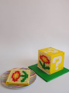 Video Games & Characters - FIRE FLOWER!!  See that flower?  That is colored cake layered inside a fondant covering.  The most amazing cake of the month.