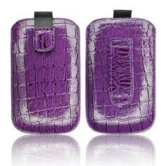 Croco Etui Tasche violett f. Samsung Galaxy Young GT-S6310N