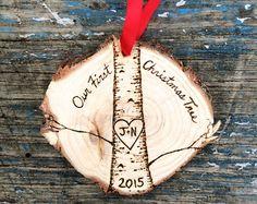 Legno di pino albero bruciato ornamento di downtoearthcraft