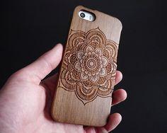 Mandala iPhone 5 case  Wood iPhone 5s case  Wooden by CaseNest