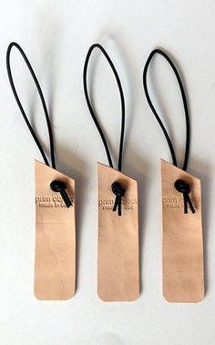 handcut luggage bag tags