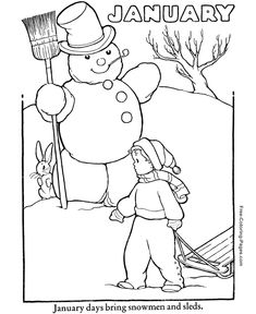 Free Winter Coloring Pages!