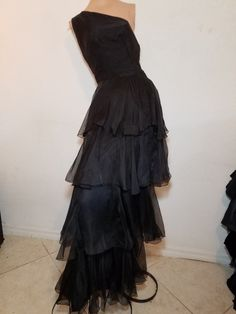 FREE  SHIPPING   1950 Organza Cocktail by VintageRevengCouture