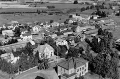 Hedmark fylke Løten kommune sentrum 1951 Utg Widerøe