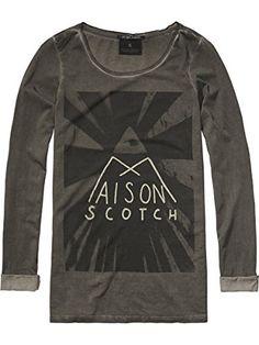 Maison Scotch Damen Langarmshirt 14240750897, Gr. 34 (Herstellergröße  P),  Mehrfarbig ed0207c647