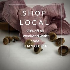 It's #smallbusinesssaturday so we're having a sale! 20% off all weekend with code THANKFUL20