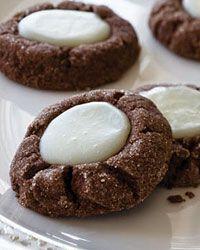 Chocolate-Mint Thumbprints - Cookies on Food & Wine