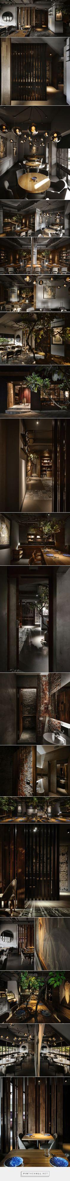 Дизайн интерьера бара-ресторана на Тайване - created via https://pinthemall.net
