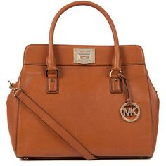 Michael Kors Astrid grained leather satchel ($505) ❤ liked on Polyvore