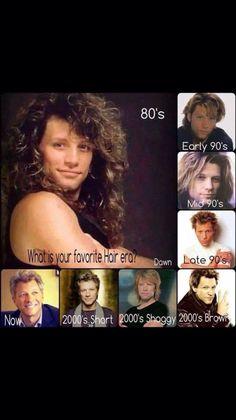 Jon Bon Jovi 80's and Mid 90's <3