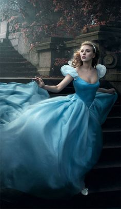 She ran down the steps and didn't even notice the little glass slipper she left behind for him to find.  (Cinderella). Scarlett Johansson.