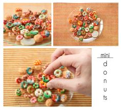 Handmade miniature donuts By Nanay Design.