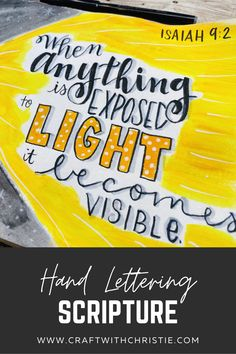 Hand lettering scripture   lettering tutorial   hand lettering video tutorial   bible study   scripture lettering   Isaiah 9:2   bible art   scripture art   #scripturelettering #handlettering