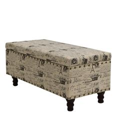 Cleo storage bench ottoman is a great addition to the living room area, it has storage in the center of the ottoman, made of fabric with solid wood top style removable legs.