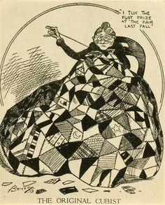 "Clare Briggs (1875–1930), ""The Original Cubist,"" New York Evening Sun, April 1, 1913."