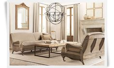 This line of furniture from Restoration Hardware - so lovely!