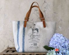 Cute tote bag from Bravura on Etsy