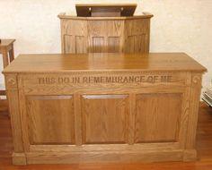 Church Furniture Store - Closed Communion Table Model 820, $2,299.00 (http://www.churchfurniturestore.com/closed-communion-table-model-820/)