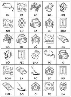 ALFABETIZAÇÃO CEFAPRO DE PONTES E LACERDA : Jogo das sílabas com o Alfabeto