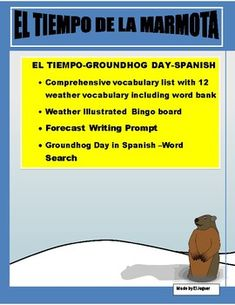 Spanish Classroom, Teaching Spanish, Teacher Resources, Teaching Ideas, Teaching Materials, Weather Vocabulary, Spanish Lessons, Spanish 1, Bingo Board
