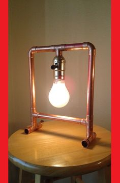 "Copper pipe lamp ""The Frame"""