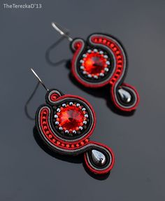 Jewel in the Crowd – Soutache and beaded jewellery Soutache Bracelet, Soutache Jewelry, Beaded Jewelry, Handmade Jewelry, Soutache Tutorial, Earring Tutorial, Ribbon Jewelry, Jewelry Crafts, Shibori