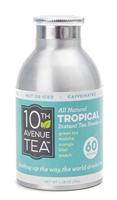 10th Avenue Tea Tropical Tea Powder  60 Servings  All Natural  Hot or Iced Tea -- Click image for more details.