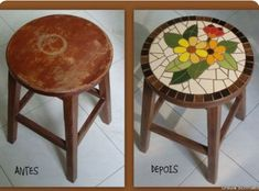 I saw this online.  I have the perfect stool and a place for it at the cottage
