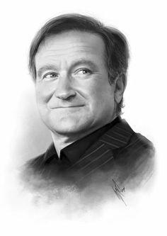 Drawing of Robin Williams
