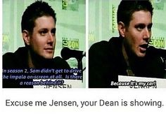 He's just as protective over Baby as Dean is. XD