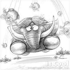 Running Mammoth - Sketch | da Is Cool Art