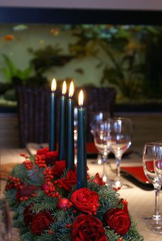 Christmas table, Athens, Greece