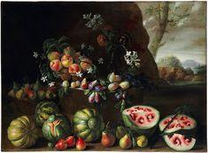 Giovanni Stanchi (Rome c. 1645-1672). Oil on canvas.