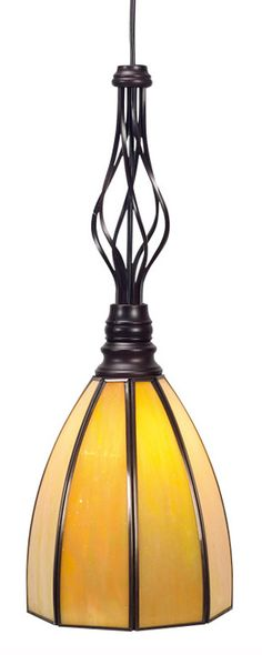 Screw-In Glass Mission Shade for Spiral Pendant Light