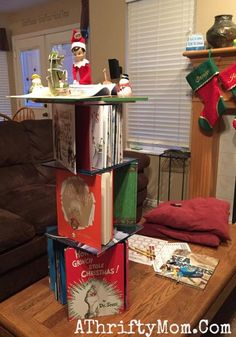 Elf on the Shelf easy ideas, What to do with your Elf, Silly Ideas for your Christmas Elf on the Shelf day 6