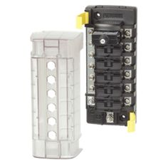 Blue Sea 5052 ST CLB Circuit Breaker Block - 6 Position w/Negative Bus