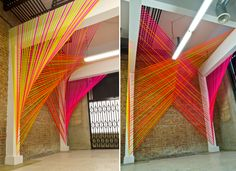cool installation...would work as an interesting backdrop too!
