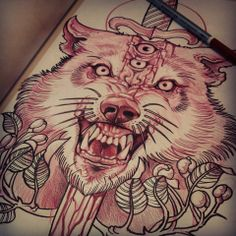 I know it might scare people, but I would LOVE to get this... Elvin Tattoo www.facebook.com/Elvintattooart