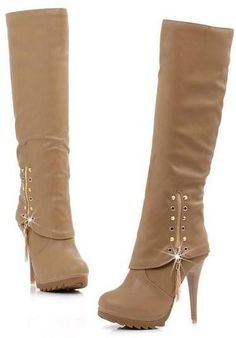 """KNEE BOOTS HIGH HEEL SEXY WARM HALF BOOT """"TRENDY SERIES""""   http://hisandherfashion.com/collections/women-shoes/products/knee-boots-high-heel-sexy-warm-half-boot-trendy-series"""