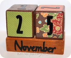 Perpetual calendars, might make some as Christmas gifts?