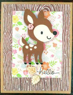 Items similar to Woodland Animals Handmade Cards, Deer Handmade Cards, Baby Shower, Congratulations, Happy Birthday handmade cards on Etsy Happy Birthday Cards Handmade, Cute Birthday Cards, Handmade Greetings, Greeting Cards Handmade, Stampin Up Christmas, Christmas Gift Tags, Cricut Cards, Stampin Up Cards, Minecraft Birthday Card
