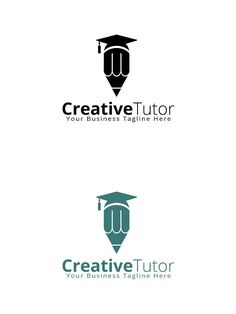Creative Tutor Logo Template - New Site Coding Logo, Teacher Logo, Typography Logo, Lettering, Academy Logo, Education Logo Design, Book Logo, Background Design Vector, University Logo