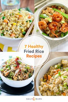 Ditch high-calorie takeout and try these healthy fried rice recipes instead. You get the comfort food, without the guilt via @dailyburn