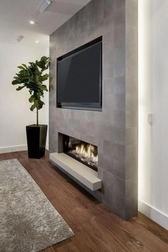 Living Room Tv Wall Decor Ideas Fire Places 40 Ideas For 2019 Living Room Decor Fireplace, Fireplace Tv Wall, Basement Fireplace, Living Room Tv, Fireplace Design, Tv Wall Ideas Living Room, Fireplace Ideas, Stone Wall Living Room, Fireplace Feature Wall