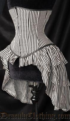 Striped Bustle Corset